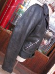 画像10: 1950'S GRAIS HORSEHIDE W MOTORCYCLE JACKET SZ/38-40