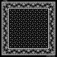 画像1: Dapper's Swastika Bandana LOT1194 BLACK (1)