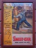 1940'S SWEET-ORR ADVERTISING CARDBOARD SIGN