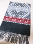 画像6: DAPPER'S Cashmink Scarf by V.FRAAS LOT1210 (ETHNIC) GRAY/RED★NAVY/ORANGE