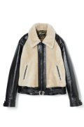 BILTBUCK BY WEARMASTERS Lot.500 GRIZZLY JACKET BLACK-CREAM/SIZE40.