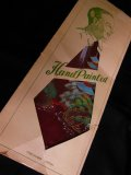 1950'S DEADSTOCK JAPANESE SOUVENIR HAND PAINTED RAYON TIE/WINE