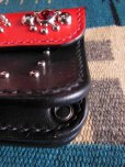 画像4: RAWHIDE STUDDED & JEWELED TRUCKERS WALLET LOT-501B/REDXBLACK