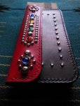 画像3: RAWHIDE STUDDED & JEWELED TRUCKERS WALLET LOT-501B/REDXBLACK