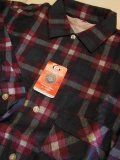 〜1960'S DEADSTOCK DESIGNER COLLECTION PRINTED PLAID FLANNEL SHIRT SZ/14-14 1/2 SMALL