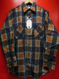 1960'S DEADSTOCK PENNEYS BIG MAC PRINTED PLAID FLANNEL SHIRT SZ/15-15 1/2 MEDIUM