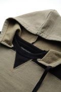 Attractions WEARMASTERS Lot.552 AFTER HOODED TWO TONE SWEATSHIRT KHAKI