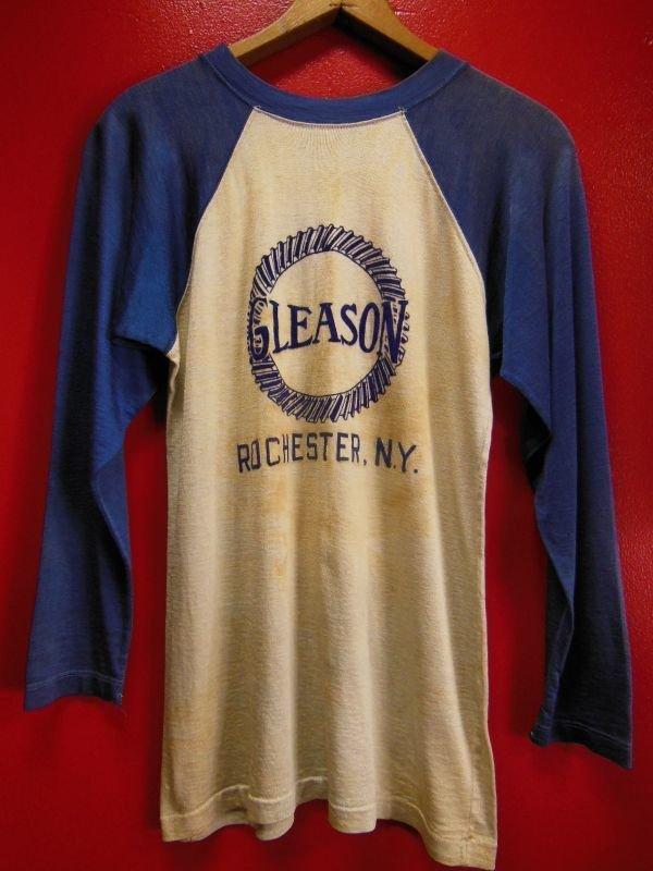 画像1: 1940'S DURACRAFT GLEASON FLOCK PRINTED TWO TONE RAYON JERSEY