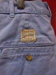 画像1: 1980'S RALPH LAUREN SAX BLUE POLO CHINO SHORT PANTS W34/米国製 (1)