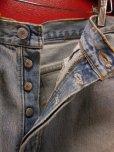 画像4: 80S90S リーバイス US古着リメイクデニムパッチワーク スカート(1)/実寸W30インチ