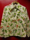 1960'S〜 GREEN GIANT POPART COTTON JACKET SZ/YOUTH14-16