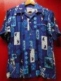 60S70S 米国ハワイ製 ビンテージ Rai Nani コットン ハワイアン アロハシャツ/Sサイズ US古着