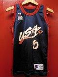 90S US古着 ビンテージ チャンピオン米国製 NBA タンクトップ 6ハーダウェイ1996アトランタ/14-16