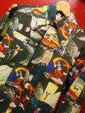 70S ビンテージ US古着  KENNINGTON ミッキー ファンタジア プリント ポリシャツ/Sサイズ