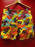 1970'S GRUBB BY ROBERT BRUCE LOVE & PIECE POP ART PRINT SHORTS/W38米国製