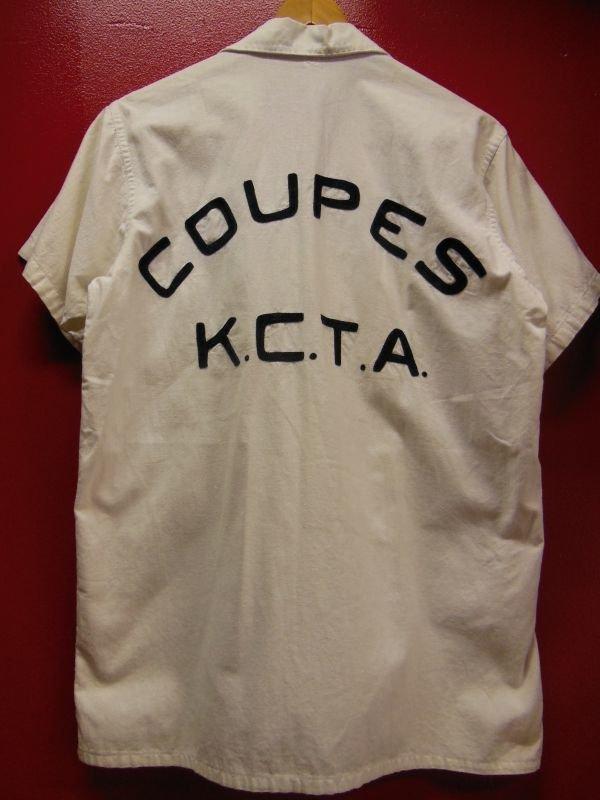 画像1: 1950'S KANSAS CITY COUPES K.C.T.A EMBROIDERED HOTROD CAR CLUB SHIRT SZ/M