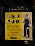 画像2: 1950'S DEADSTOCK PENNEY'S PAYDAY 11-1/4OZ DENIM BIB OVERALLS SZ/36X32 (2)