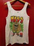 90S 米国製 ANVIL KISS HOT IN THE SHADE TOUR 1990 ビンテージ タンクトップ 全米ツアー バンドT/L