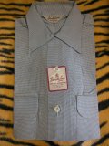 1950'S DEADSTOCK BROOKS LANE HOUNDSTOOTH ACETATE SHIRT SZ/MEDIUM