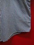 画像8: 70S80S ビンテージ BRONCO 青X白ギンガムチェック パーマネントプレス シャツ/M US古着
