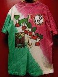 90S US古着 ビンテージ BRINE サッカー イタリア タイダイTシャツ 大きめXXLサイズ