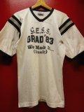 80S US古着 ビンテージ GRAD'83 へヴィーウェイト ジャージ フットボールTシャツ L
