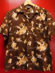 画像1: 1950'S KILOHANA ALOHA HAWAII PRINTED COTTON HAWAIIAN SHIRT SZ/L (1)