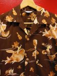 画像2: 1950'S KILOHANA ALOHA HAWAII PRINTED COTTON HAWAIIAN SHIRT SZ/L (2)
