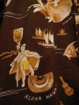 画像9: 1950'S KILOHANA ALOHA HAWAII PRINTED COTTON HAWAIIAN SHIRT SZ/L