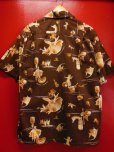 画像7: 1950'S KILOHANA ALOHA HAWAII PRINTED COTTON HAWAIIAN SHIRT SZ/L