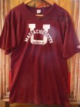 画像7: 1980'S CHAMPION U OF MASSACHUSETTS FOOTBALL TEE LARGE