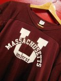 1980'S CHAMPION U OF MASSACHUSETTS FOOTBALL TEE LARGE