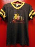 70S80S US古着 ビンテージ 20TH CENTURY FOX 20世紀FOX アールデコプリント Tシャツ/S