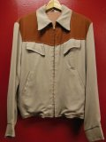 1950'S NORTH COUNTRY TWO TONE BROWN YOKE X PIQUE JKT SZ/38