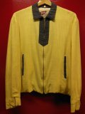 1950'S RUGBY YELLOW X BLACK TWO TONE RAYON JACKET/MED