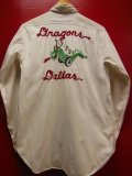 1950'S DRAGONS EMBROIDERED HOTROD CAR CLUB SHIRT SZ/14-1/2
