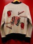 画像3: The Groovin High 2018 A/W 1950's Style Vintage cotton knit Indian native/lot.A153