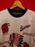 画像2: The Groovin High 2018 A/W 1950's Style Vintage cotton knit Indian native/lot.A153 (2)