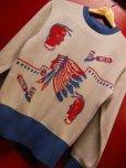 画像8: The Groovin High 2018 A/W 1950's Style Vintage cotton knit Indian native/lot.A153