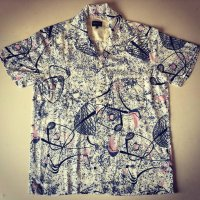 The GROOVIN HIGH 2019s/s A171 Vintage Style Box Shirt Short Sleeves Atomic/Black/M