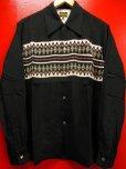 画像2: The GROOVIN HIGH Vintage Atomic Print Style Box Shirt Long SleevesA165/Black/Mサイズ (2)