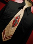 画像3: 1940'S REBEL FLAG RAYON CRAVAT NECKTIE