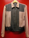1950'S PINK X GRAY T-PANEL REVERSIBLE GABERDINE JACKET SZ/M