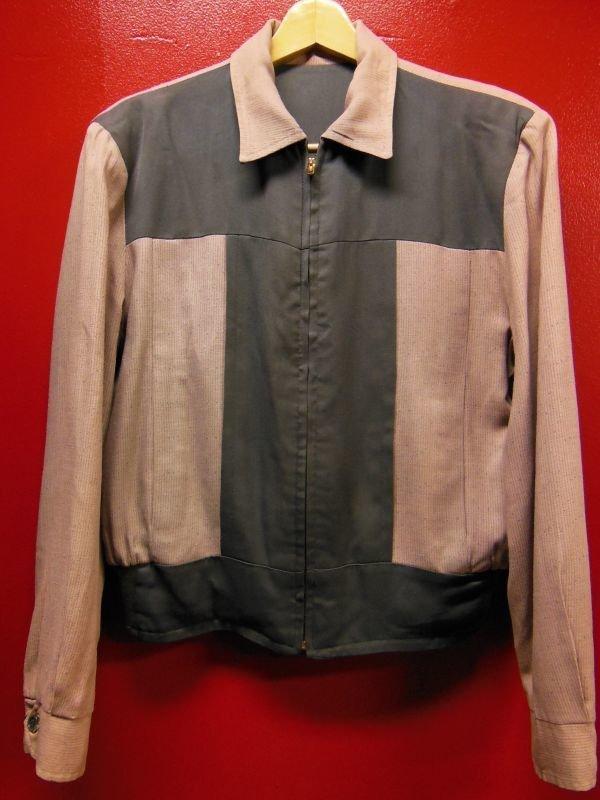 画像1: 1950'S PINK X GRAY T-PANEL REVERSIBLE GABERDINE JACKET SZ/M