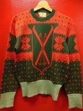 1940'S WELGRUME SKI AND SNOWFLAKE WOOL JACQUARD SWEATER