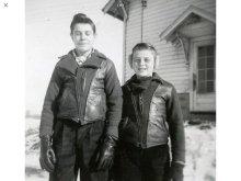他の写真1: 1940'S UNKNOWN WOOL X LEATHER TWO TONE PANEL SPORTS JACKET