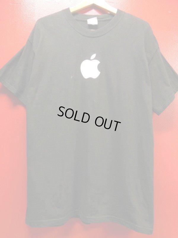 画像2: (3)90S00S US古着 ビンテージ apple アップルコンピューター 販売店イベントスタッフTシャツ/黒/Lサイズ