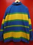 画像4: 90S00S US古着オールド ビンテージ 旧タグ GAPボーダーラグビーシャツラガーシャツ/L