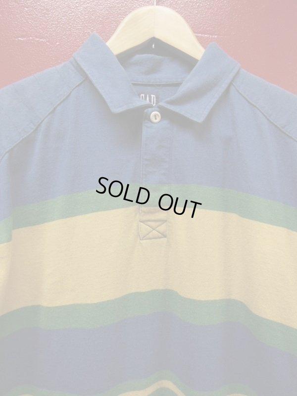 画像2: 90S00S US古着オールド ビンテージ 旧タグ GAPボーダーラグビーシャツラガーシャツ/L