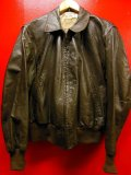 1950'S NATIONAL GOATSKIN LEATHER BOMBER JACKET SZ/40-42